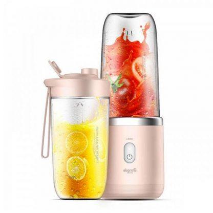 Besprovodnaya Sokovyzhimalka Blender Xiaomi Deerma Fruit Cup 400ml Pink Dem Nu05 4