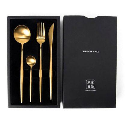 Nabor Stolovyh Priborov Xiaomi Maison Maxx Stainless Steel Cutlery Set Gold 3