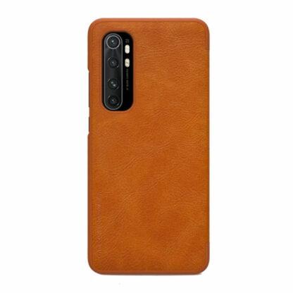 Knizhka Nillkin Qin Leather Xiaomi Note 10 Lite Korichnevyj 11