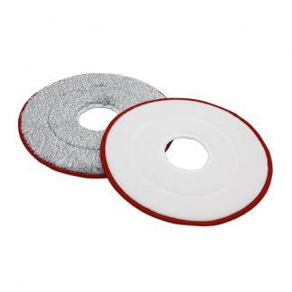 Nasadka Dlya Shvabry Yijie Disposable Mop Replacement Yd 02 Red Gray Cloth 2pcs 1