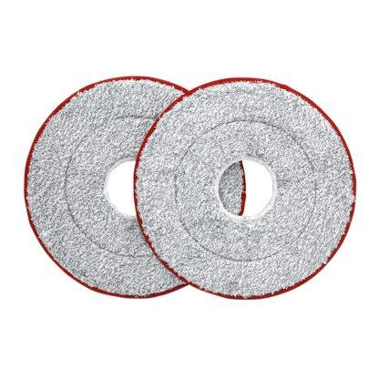 Nasadka Dlya Shvabry Yijie Disposable Mop Replacement Yd 02 Red Gray Cloth 2pcs 3