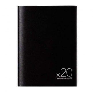 Vneshnij Akkumulyator Power Bank Xiaomi Solove 20000mah S Kozhanym Chehlom A8 2 Chernyj 1