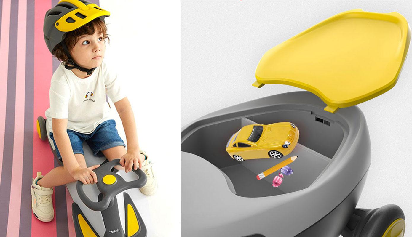 Opisanie Detskaya Karting Mashina Xiaomi 700kids Babys Scooter Cr03a Yellow 1