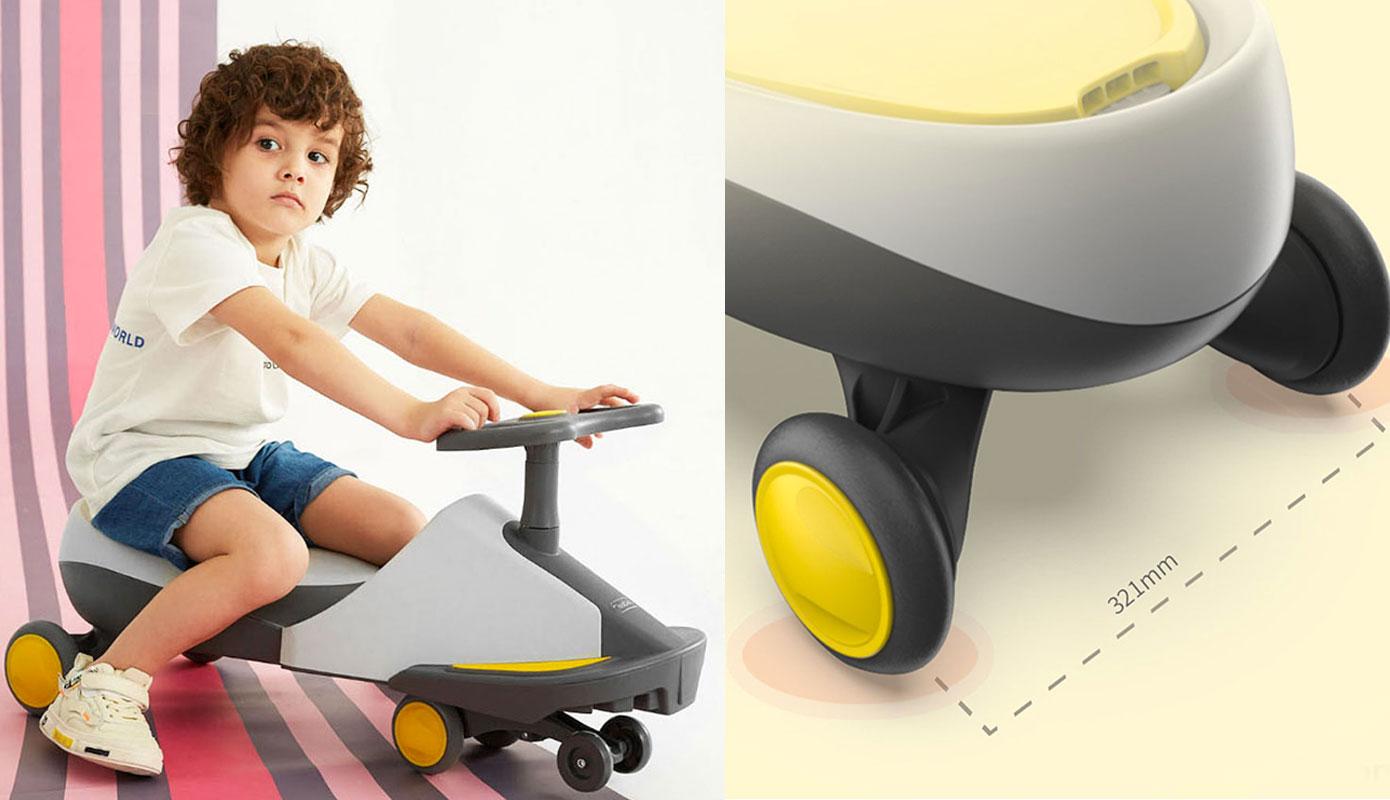 Opisanie Detskaya Karting Mashina Xiaomi 700kids Babys Scooter Cr03a Yellow 2