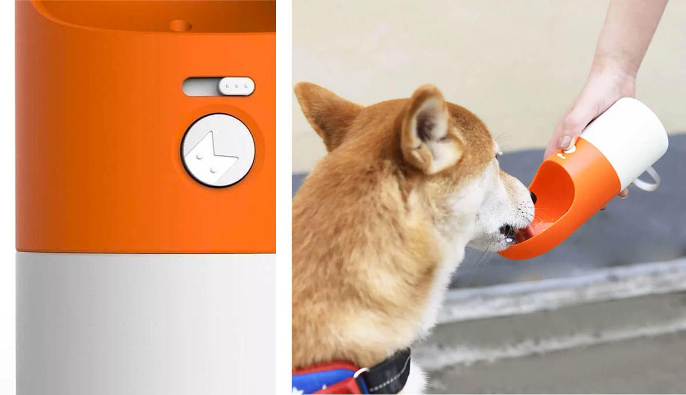 Opisanie Poilka Dlya Zhivotnyh Xiaomi Moestar Rocket Portable Pet Cup Gray 1 1