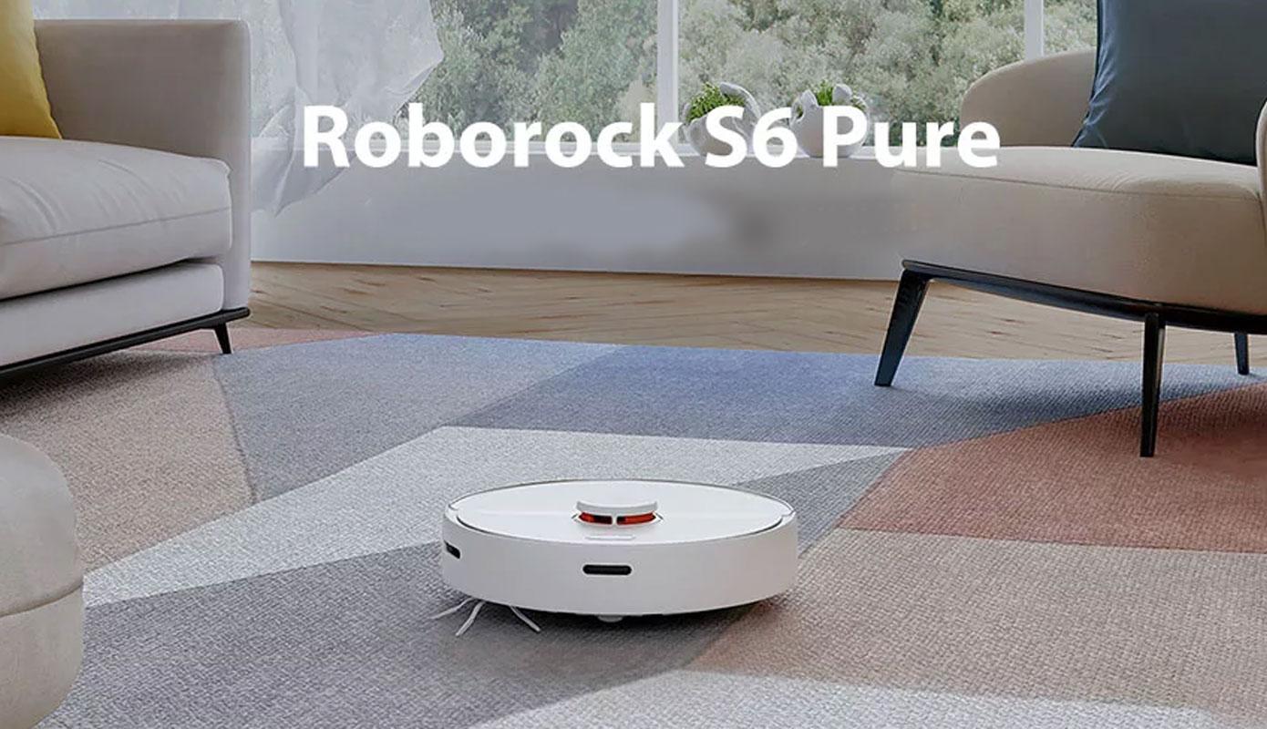 Opisanie Robot Pylesos Xiaomi Roborock S6 Pure Smart Sweeping Vacuum Cleaner White 1