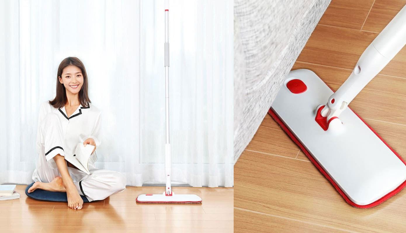 Opisanie Shvabra S Raspylitelem Xiaomi Yijie Flat Spray Mop White Yp 03 1