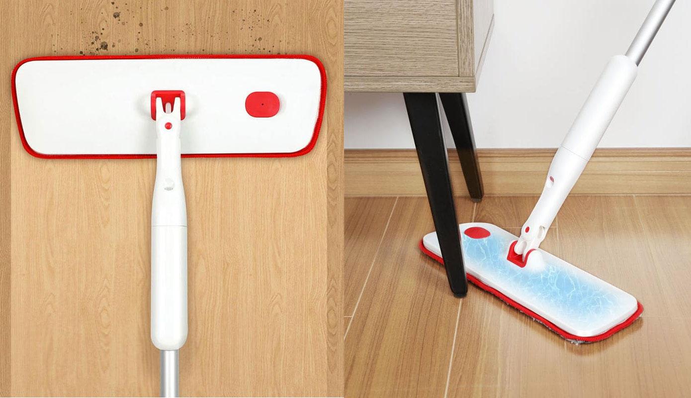 Opisanie Shvabra S Raspylitelem Xiaomi Yijie Flat Spray Mop White Yp 03 2