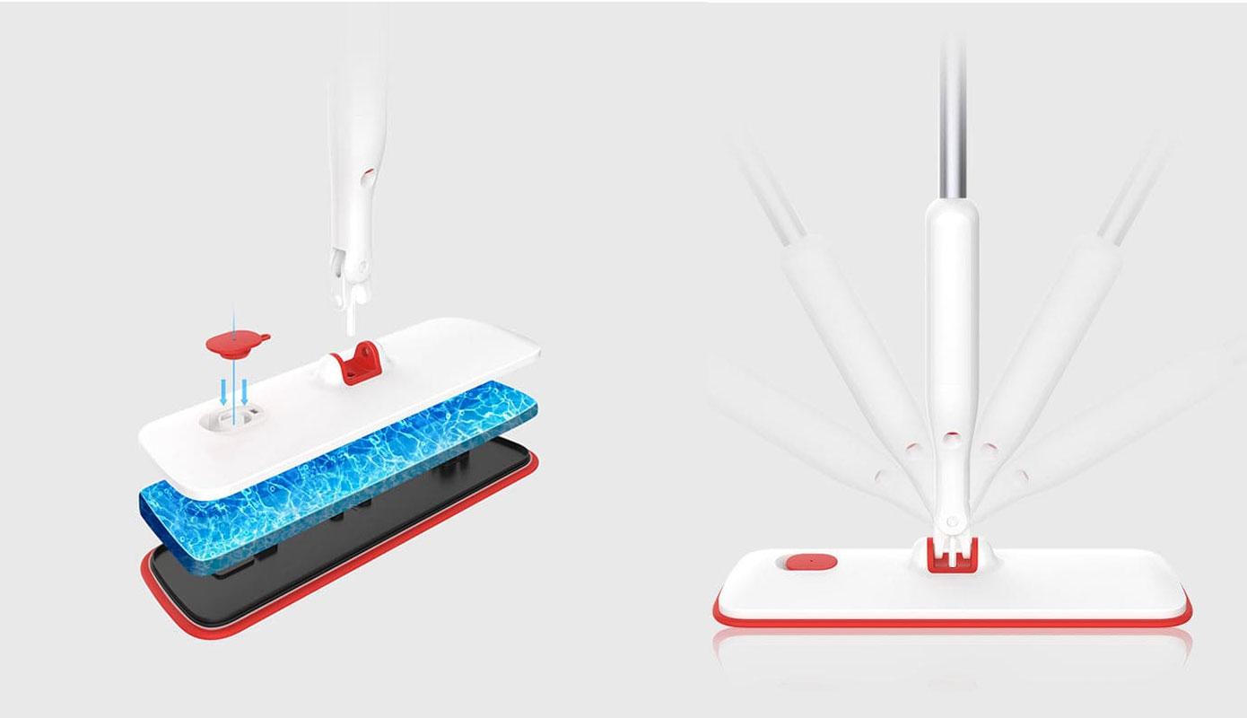 Opisanie Shvabra S Raspylitelem Xiaomi Yijie Flat Spray Mop White Yp 03 3