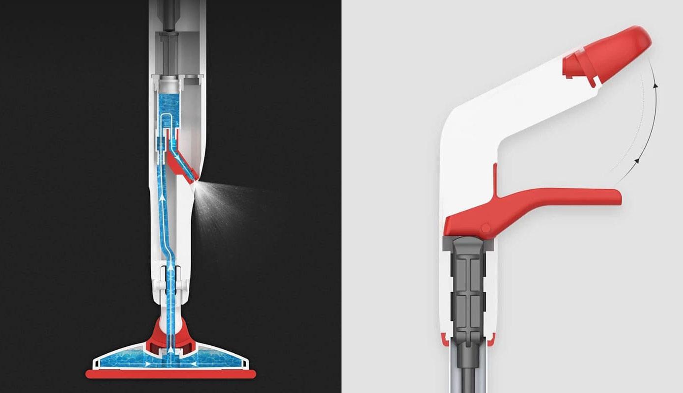 Opisanie Shvabra S Raspylitelem Xiaomi Yijie Flat Spray Mop White Yp 03 4