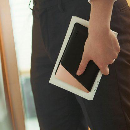 Vneshnij Akkumulyator Power Bank Xiaomi Solove 20000mah S Kozhanym Chehlom A8 2 Bezhevyj 2