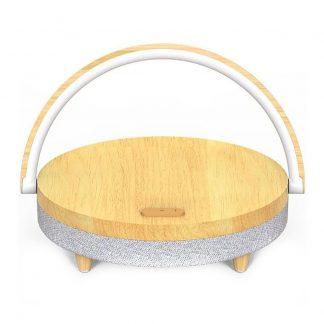 Nastolnaya Lampa S Besprovodnoj Zaryadkoj I Kolonkoj Xiaomi Ezvalo Wireless Charging Music Lamp 10w 1