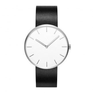 Chasy Xiaomi Twenty Seventeen Mens Quartz Watch Leather Strap Black 1