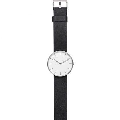 Chasy Xiaomi Twenty Seventeen Mens Quartz Watch Leather Strap Black 2