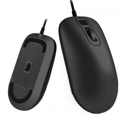Mysh So Skanerom Otpechatka Palcza Xiaomi Smart Fingerprint Mouse Black 6