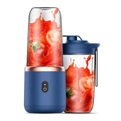 Besprovodnoj Blender Xiaomi Deerma Fruit Cup 400ml Blue Dem Nu06 1