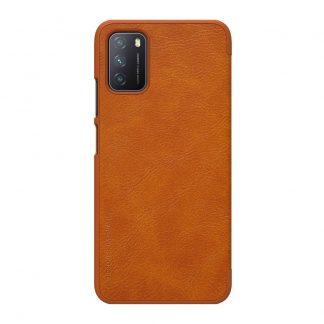 Knizhka Nillkin Qin Leather Xiaomi Poco M3 Korichnevyj 1
