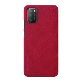 Knizhka Nillkin Qin Leather Xiaomi Poco M3 Krasnyj 1