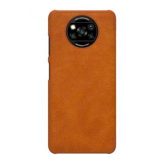 Knizhka Nillkin Qin Leather Xiaomi Poco X3 X3 Pro Korichnevyj 1