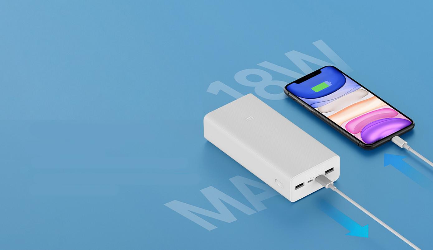 Opisanie Vneshnij Akkumulyator Power Bank Xiaomi 3 30000 Mah White Pb3018zm 1