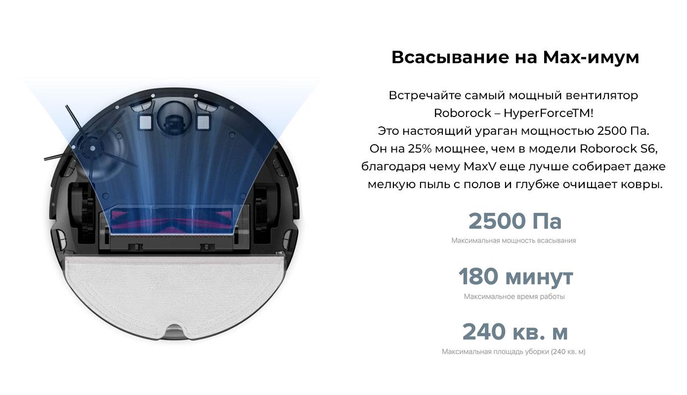 Opisanie Xiaomi Roborock S6 Maxv 8