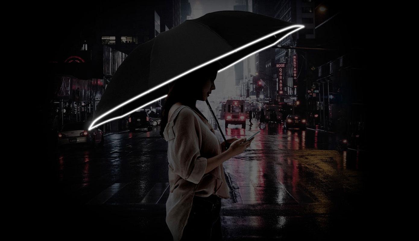 Opisanie Zont Xiaomi Zuodu S Fonarem Avtomaticheskij 2