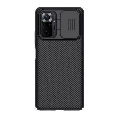 Nakladka Nillkin Silikonovaya Camshield Dlya Xiaomi Redmi Note 10 Pro Chernyj 1